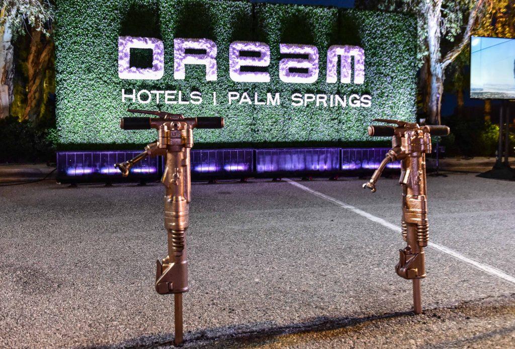 ground breaking on dream hotel in palm contrete springs - Brundage-bone