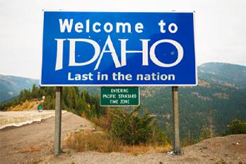 Entered Idaho